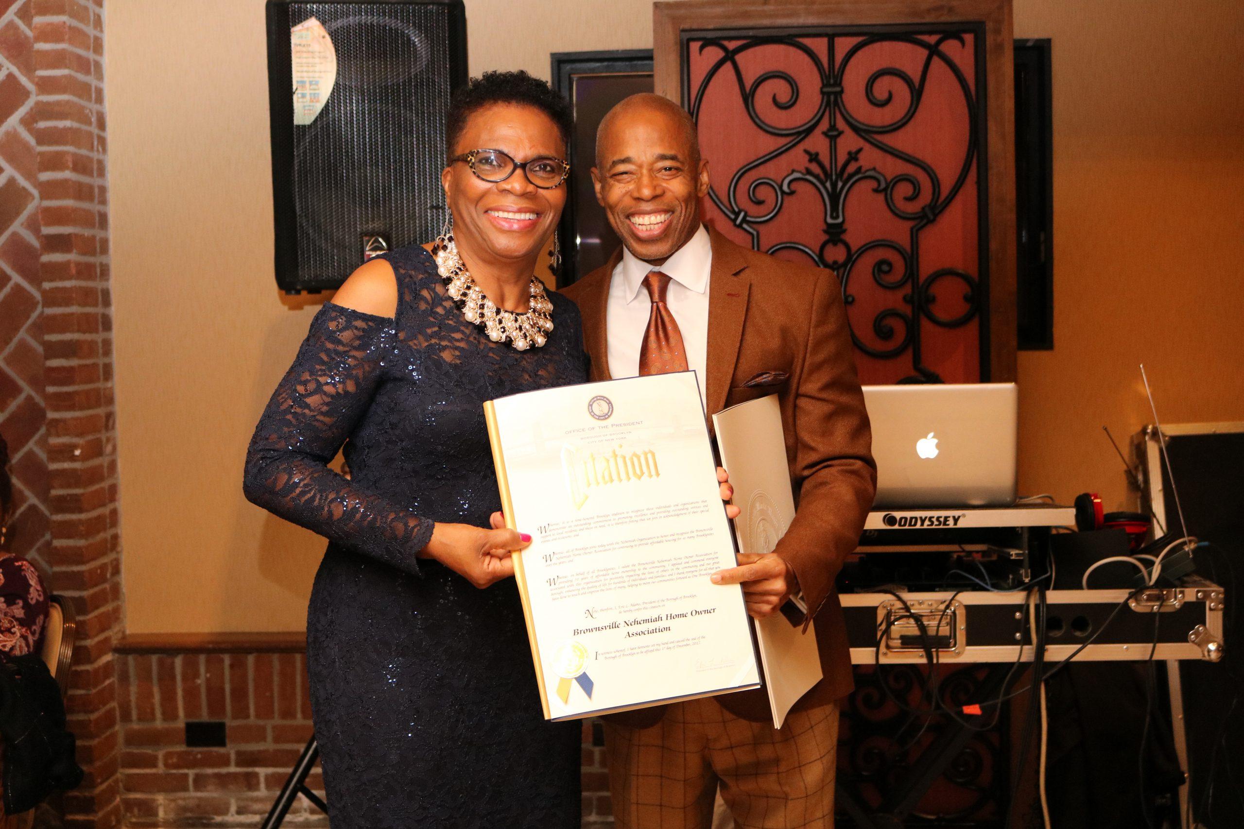 Brownsville President Receiving Award